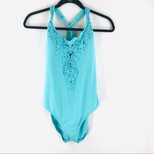 Kenneth Cole Large Teal One Piece Bathing Suit
